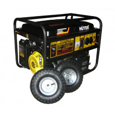 Huter DY6500LX + колеса и аккумулятор